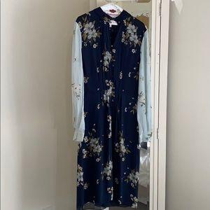 Joie blue floral dress. Size 12